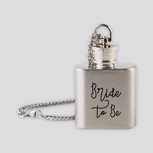 Script Bride to Be Flask Necklace