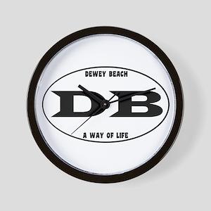 Dewey Beach Euro Wall Clock