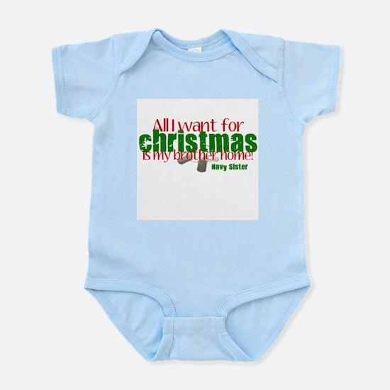 All I want Brother Navy Siste Infant Bodysuit
