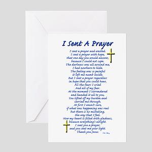 I Sent a Prayer Greeting Card