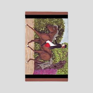 English Style Dressage Horse Riding Area Rug