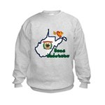 ILY West Virginia Kids Sweatshirt
