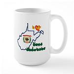 ILY West Virginia Large Mug
