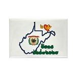 ILY West Virginia Rectangle Magnet (100 pack)