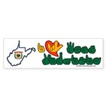 ILY West Virginia Sticker (Bumper 10 pk)