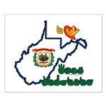 ILY West Virginia Small Poster
