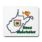 ILY West Virginia Mousepad