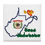 ILY West Virginia Tile Coaster