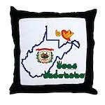 ILY West Virginia Throw Pillow