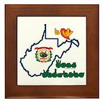 ILY West Virginia Framed Tile