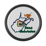 ILY West Virginia Large Wall Clock