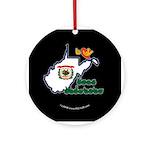 ILY West Virginia Ornament (Round)