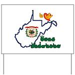 ILY West Virginia Yard Sign