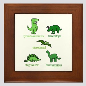 Dinosaurs Galore Framed Tile