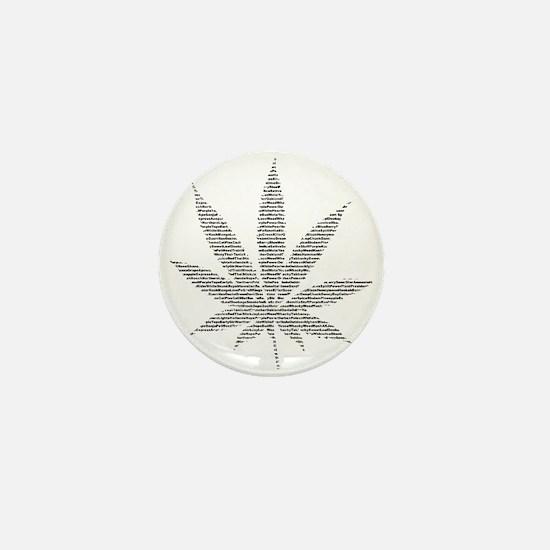 Pot Leaf Mini Button