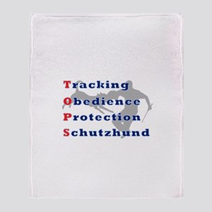Schutzhund is TOPS Throw Blanket