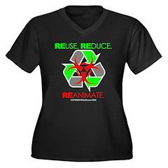 REUSE. REDUCE. REANIMATE. Women's Plus Size V-Neck