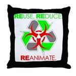 REUSE. REDUCE. REANIMATE. Throw Pillow