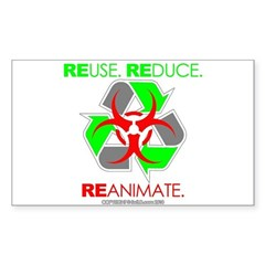 REUSE. REDUCE. REANIMATE. Decal
