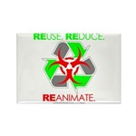 REUSE. REDUCE. REANIMATE. Rectangle Magnet (100 pa