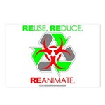 REUSE. REDUCE. REANIMATE. Postcards (Package of 8)