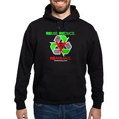 REUSE. REDUCE. REANIMATE. Hoodie (dark)