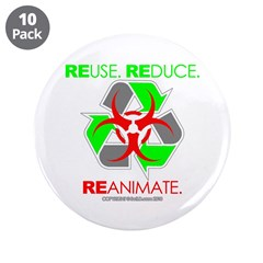 """REUSE. REDUCE. REANIMATE. 3.5"""" Button (10 pac"""