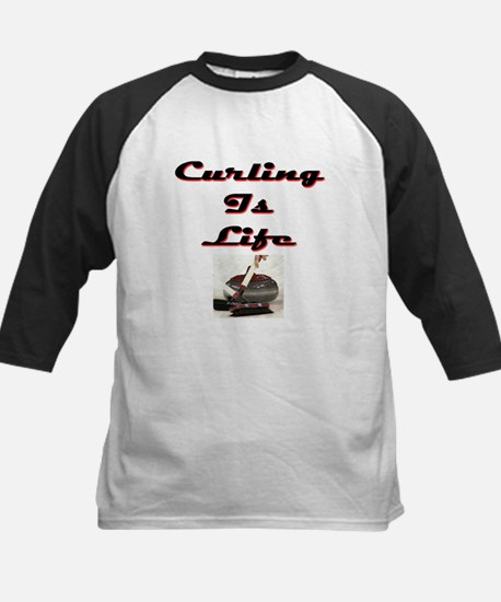 Curling is Life Kids Baseball Jersey