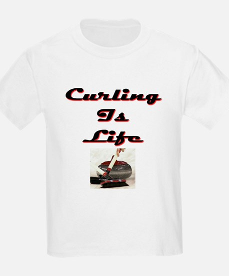 Curling is Life Kids T-Shirt