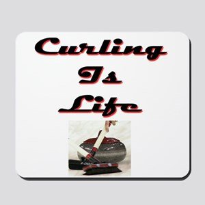 Curling is Life Mousepad