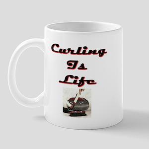 Curling is Life Mug