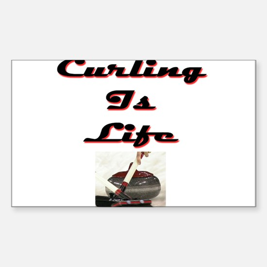 Curling is Life Rectangle Decal