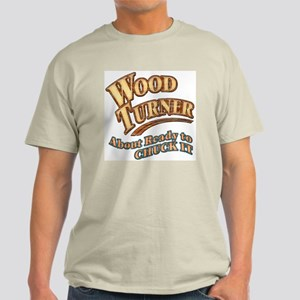 """Wood Turner""  Light T-Shirt"