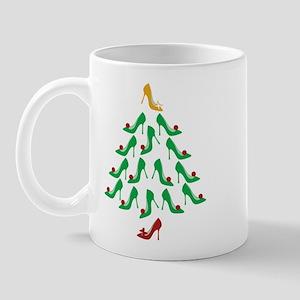 High Heel Shoe Holiday Tree Mug