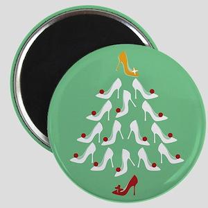 High Heel Shoe Holiday Tree Magnet