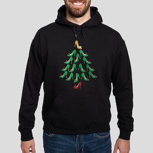 High Heel Shoe Holiday Tree Hoodie (dark)
