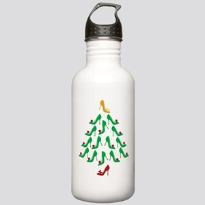 High Heel Shoe Holiday Tree Stainless Water Bottle