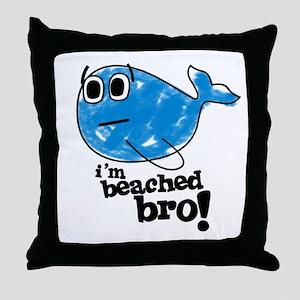 Beached Bro Throw Pillow