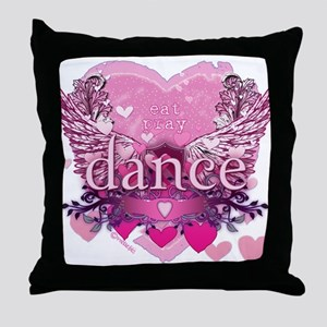 Eat Pray Dance by Danceshirts.com Throw Pillow
