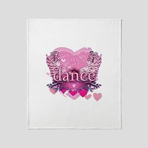 Eat Pray Dance by Danceshirts.com Throw Blanket