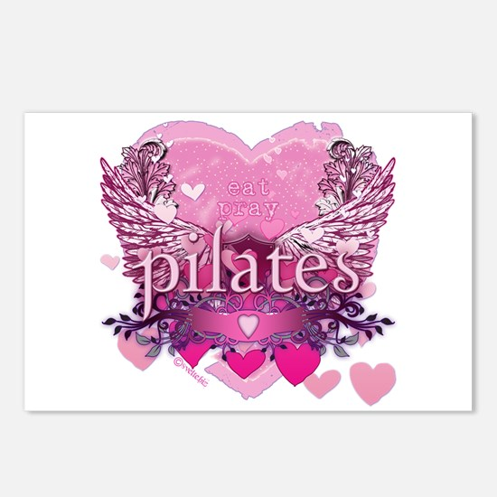 Eat Pray Pilates by Svelte.biz Postcards (Package
