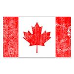 Canadian Flag Sticker (Rectangle 50 pk)