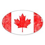 Canadian Flag Sticker (Oval 10 pk)