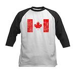 Canadian Flag Kids Baseball Jersey