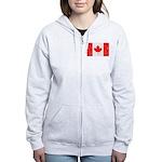 Canadian Flag Women's Zip Hoodie