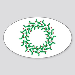 High Heel Shoe Holiday Tree Sticker (Oval)