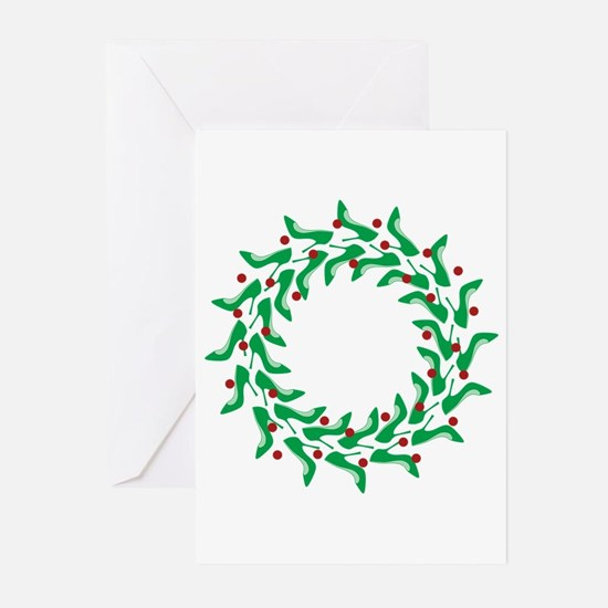 High Heel Shoe Holiday Tree Greeting Cards (Pk of