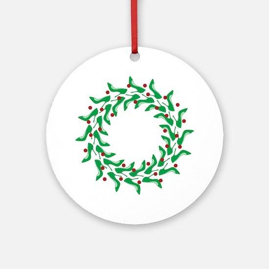 High Heel Shoe Wreath Ornament (Round)