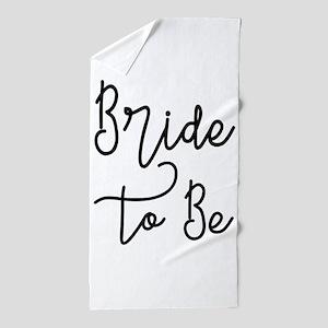 Script Bride to Be Beach Towel