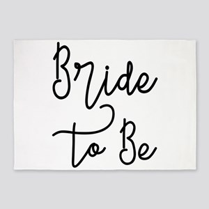 Script Bride to Be 5'x7'Area Rug
